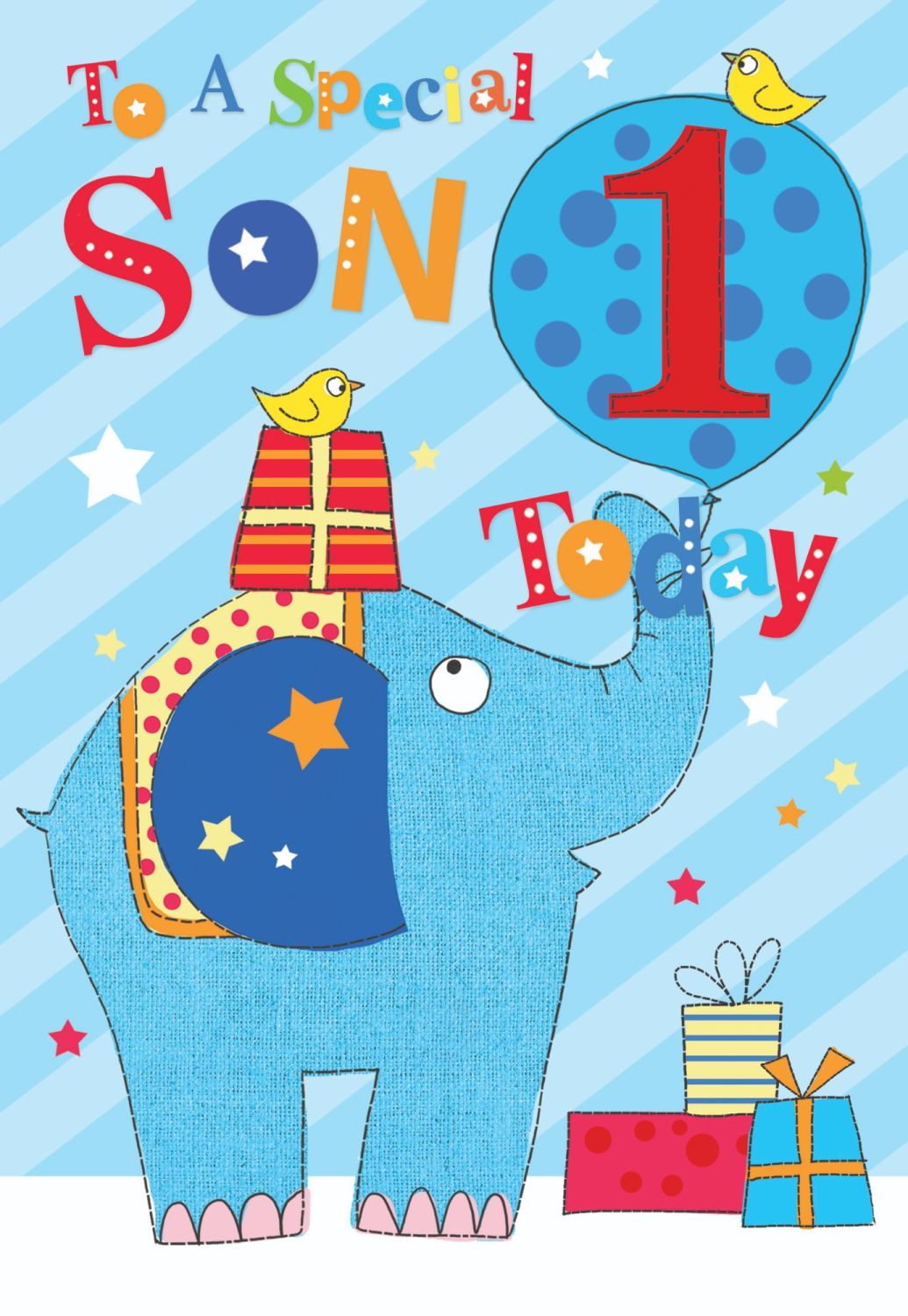 1st Birthday Cards For Special Son - TO A Special SON - YOU Are 1 TODAY - C