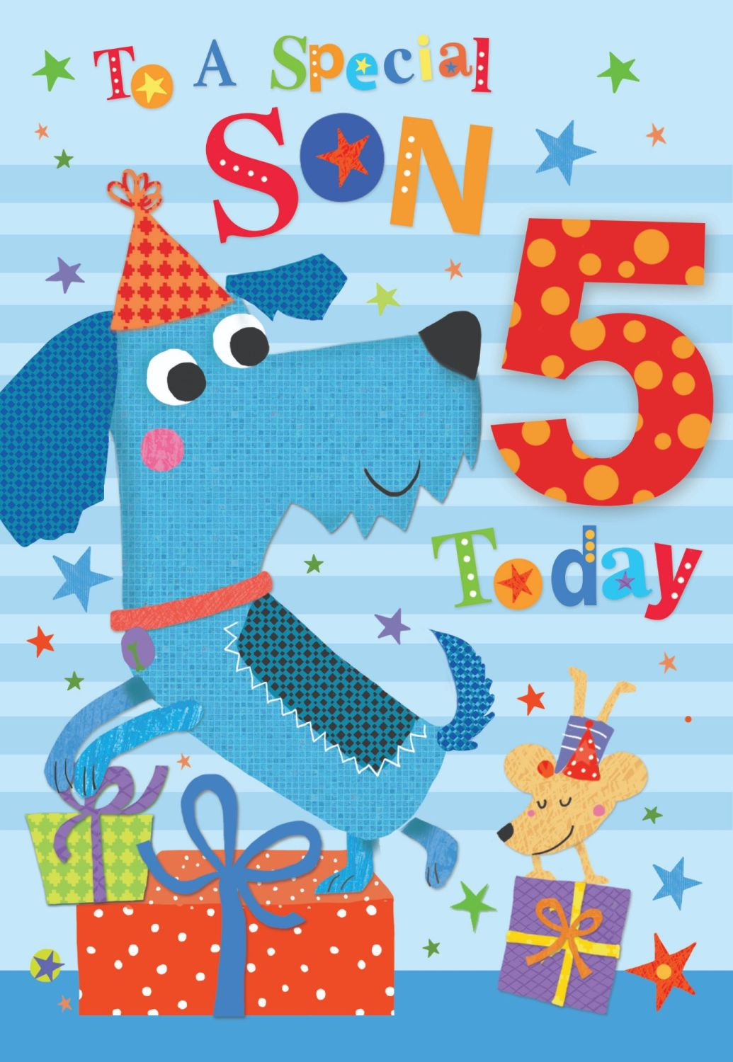 5th Birthday Cards For Son - TO A Special SON - YOU Are 5 TODAY - Special S
