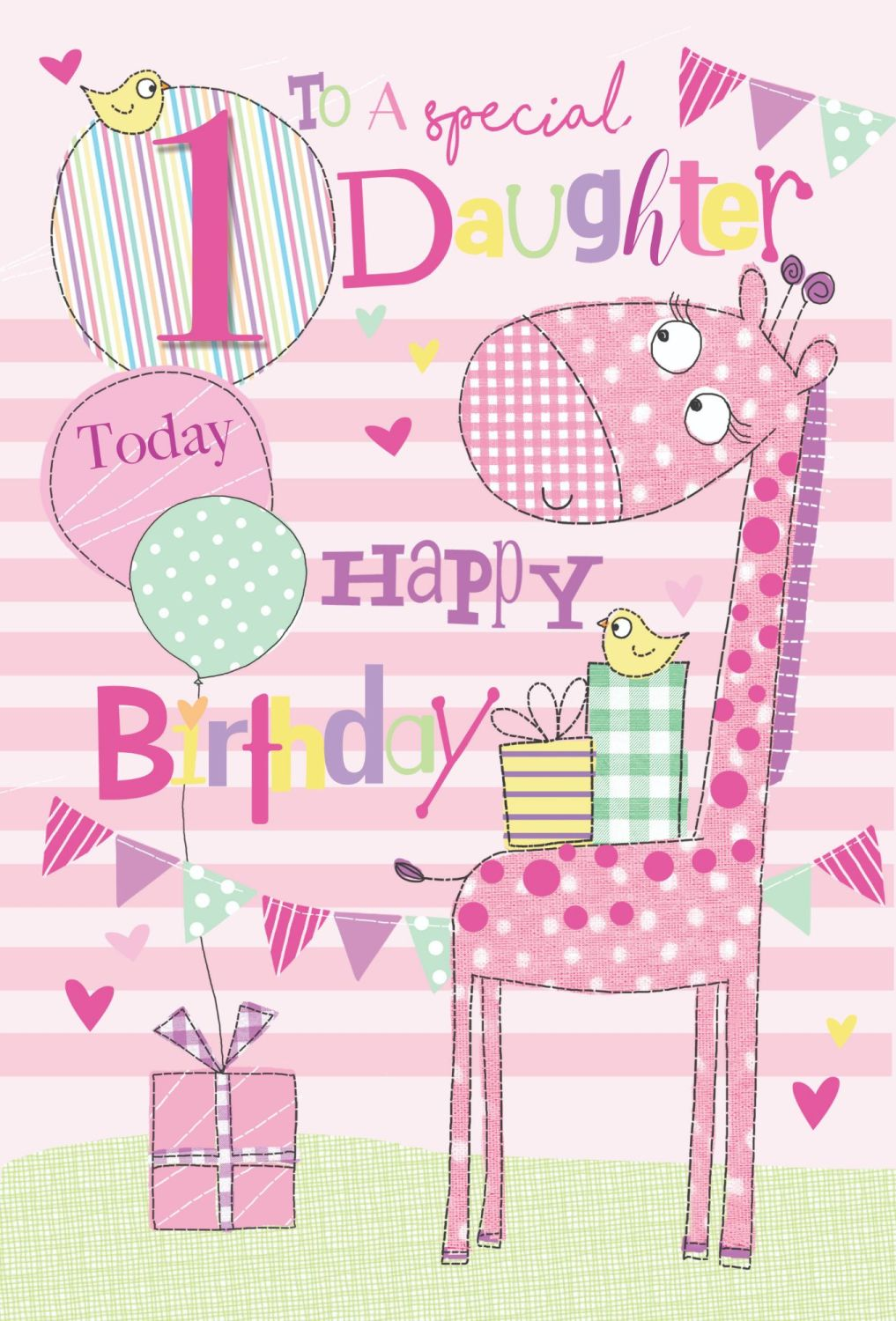 1st Birthday Cards For Daughter - TO A Special DAUGHTER - 1 TODAY - Special