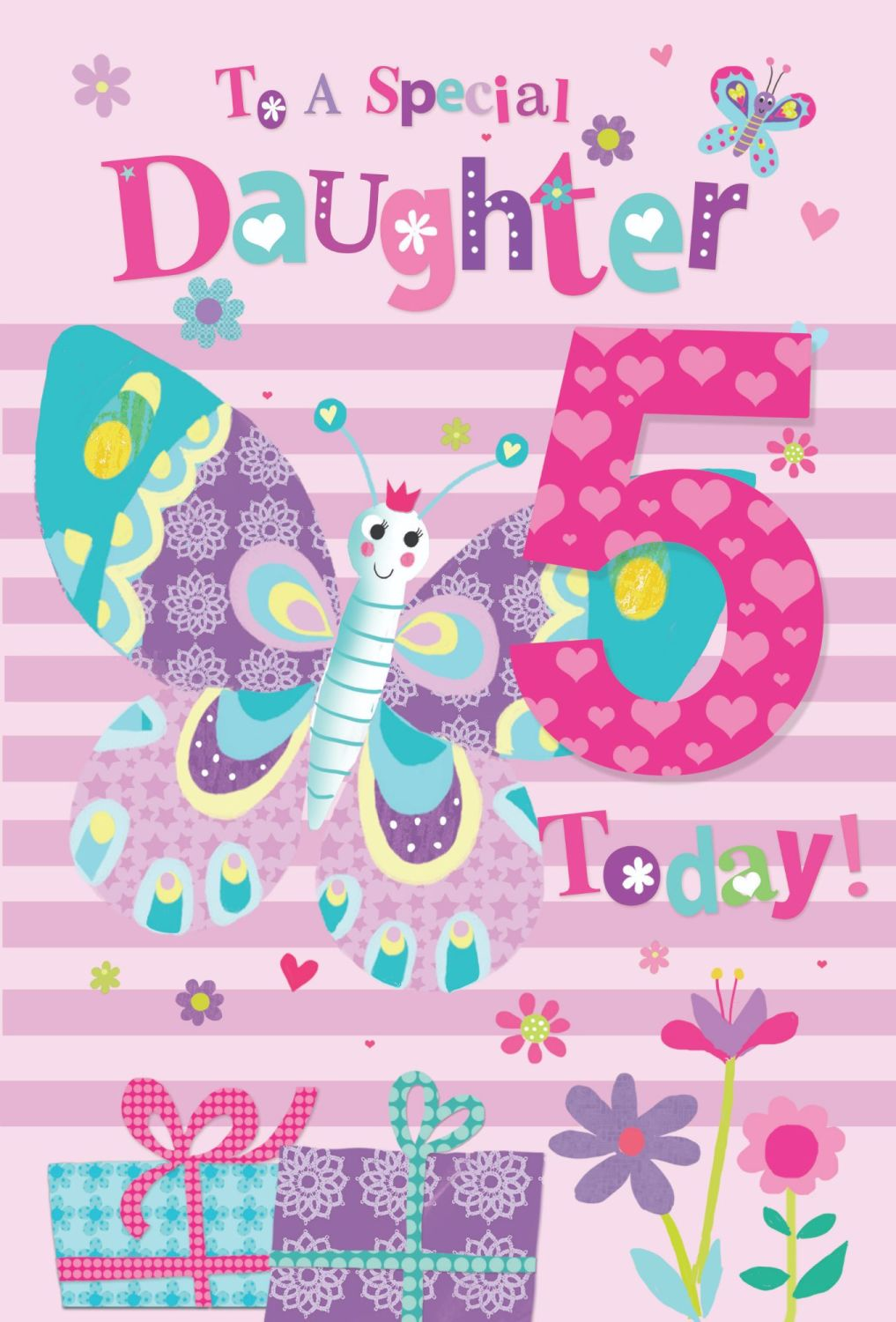 5th Birthday Cards For Special Daughter - TO A Special DAUGHTER - 5 TODAY -