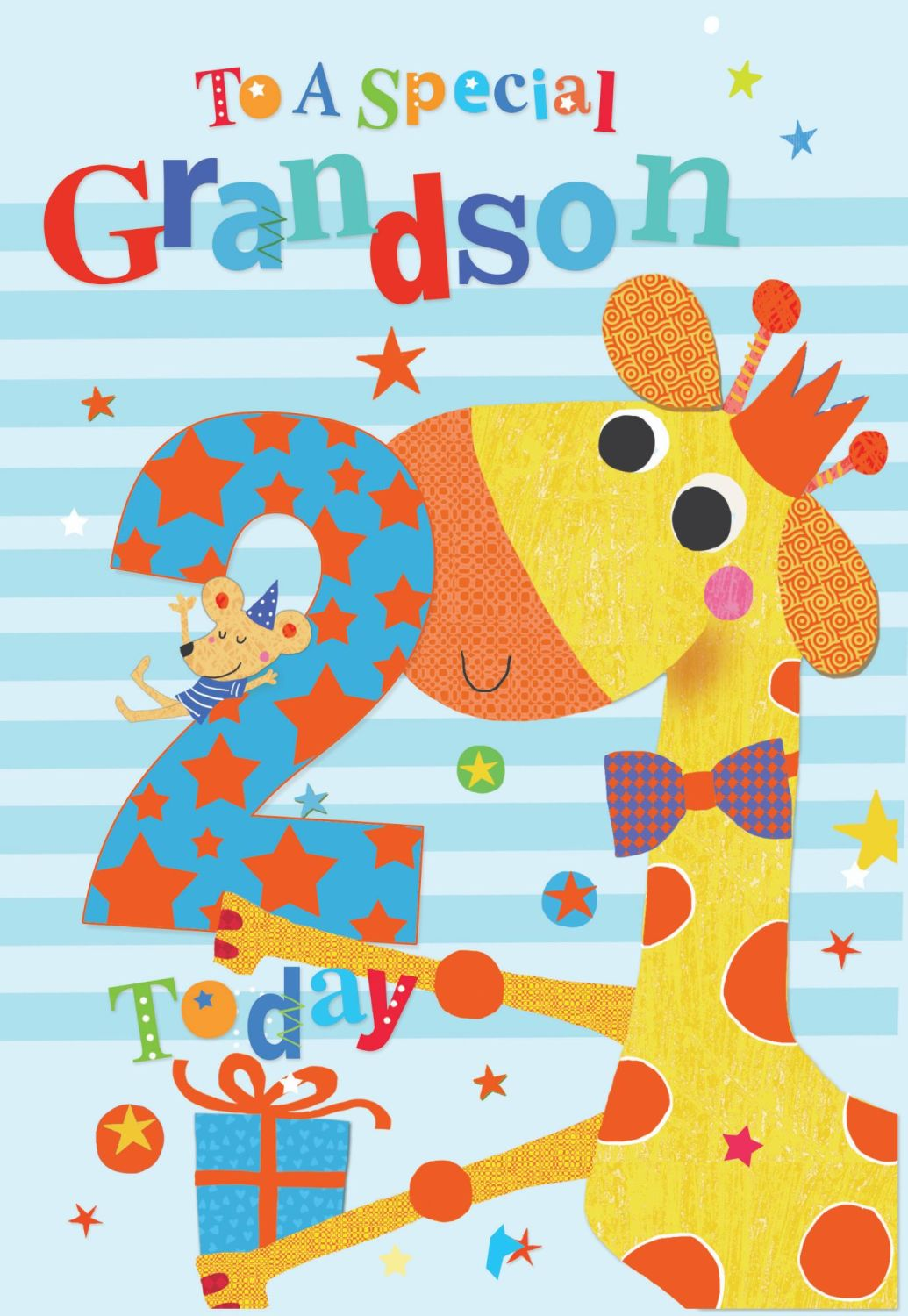2nd Birthday Cards For Grandson - TO A Special GRANDSON - 2 TODAY - Special