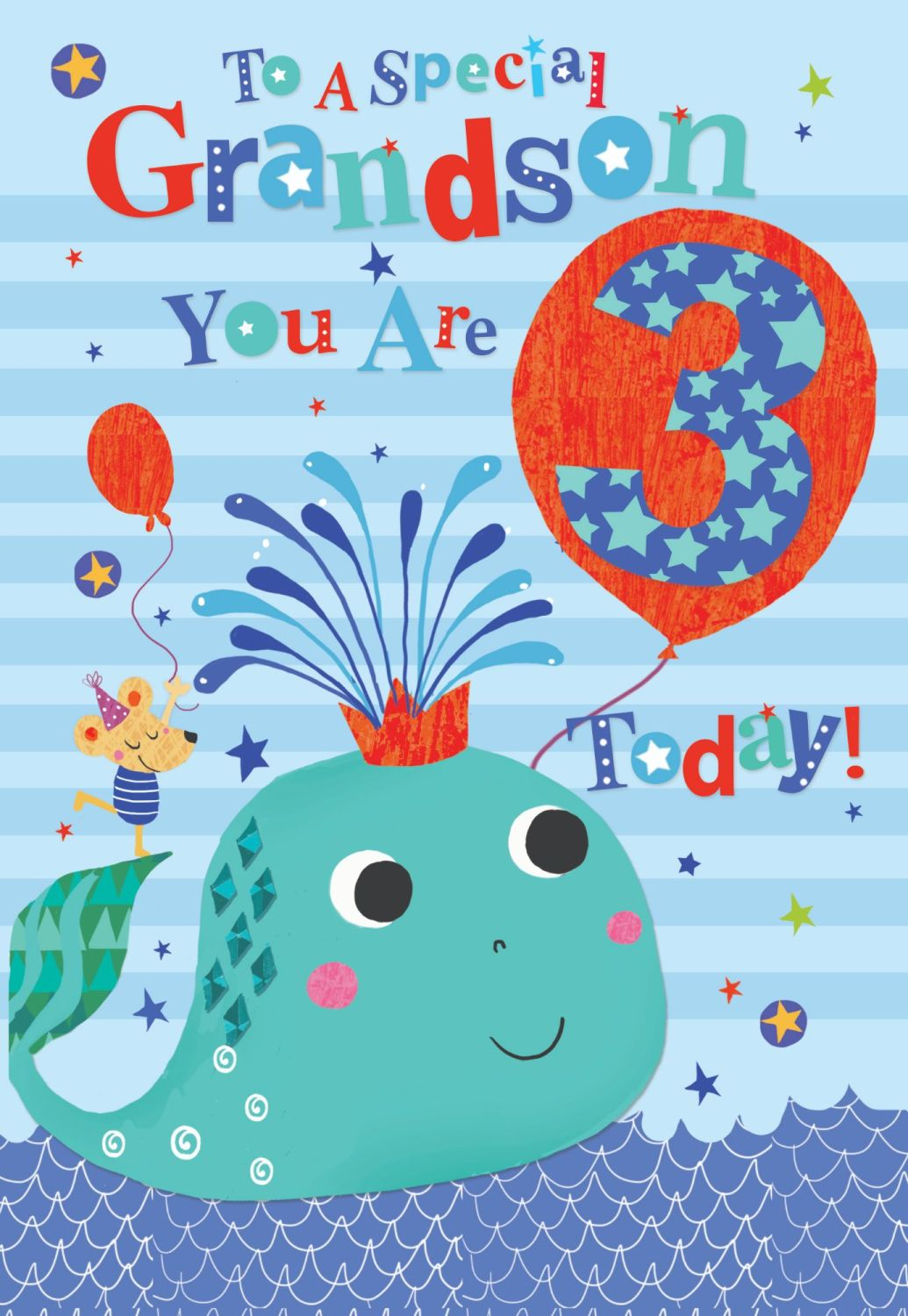 3rd Birthday Cards For Grandson - TO A Special GRANDSON - YOU Are 3 TODAY -