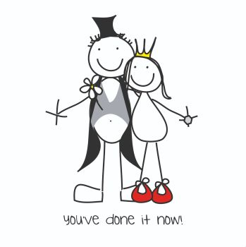 Funny Wedding Day Cards - YOU'VE Done It NOW - Quirky WEDDING Card - SARCASTIC WEDDING Card -  Fun WEDDING Day CARD For FRIEND