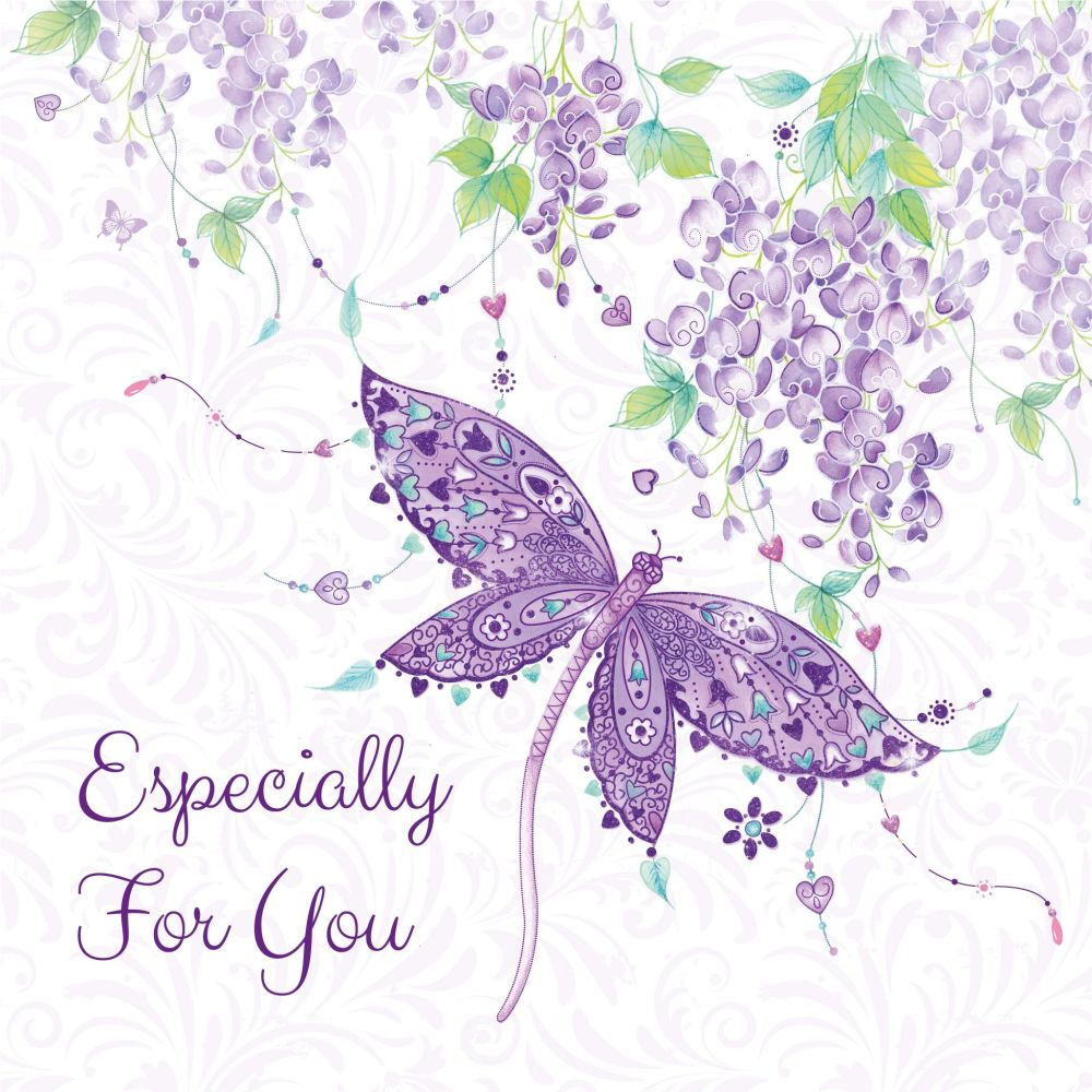 Especially For You Birthday Card - PRETTY Butterfly BIRTHDAY Card - BIRTHDA