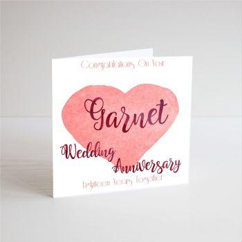 18th Wedding Anniversary Cards - CONGRATUALTIONS - Handmade - Garnet WEDDING Anniversary CARDS - Garnet ANNIVERSARY - Anniversary CARDS