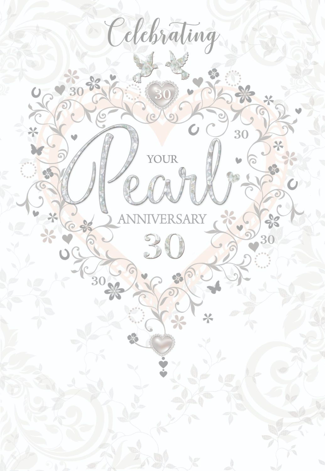 Celebrating Your Pearl Anniversary - 30th PEARL Anniversary CARDS - Anniver