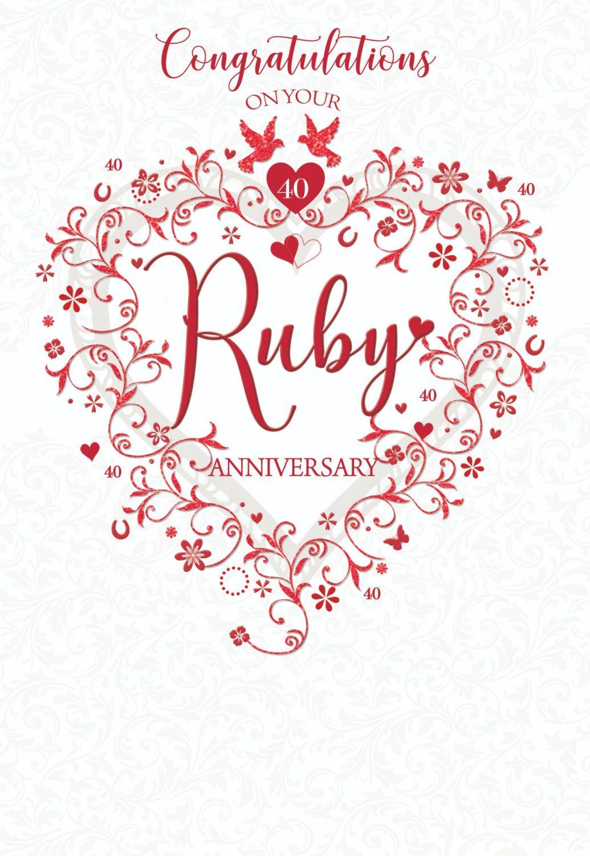 10th Wedding Anniversary Cards - CONGRATULATIONS - Ruby WEDDING Cards -  RUBY 10th WEDDING Anniversary CARDS - Ruby WEDDING Cards For SPECIAL Friends