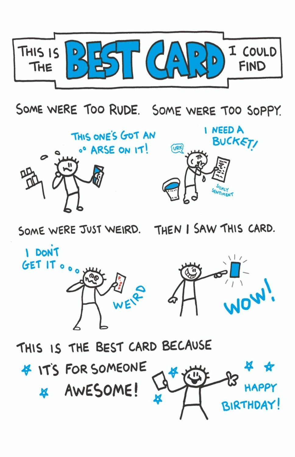 Funny Birthday Cards - BEST Card I COULD Find - FUNNY Birthday CARDS For HI