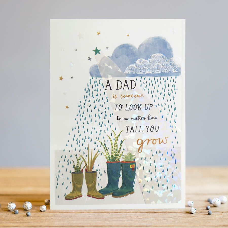 Dad Birthday Cards - A DAD Is SOMEONE To Look UP To - UNIQUE Birthday Card
