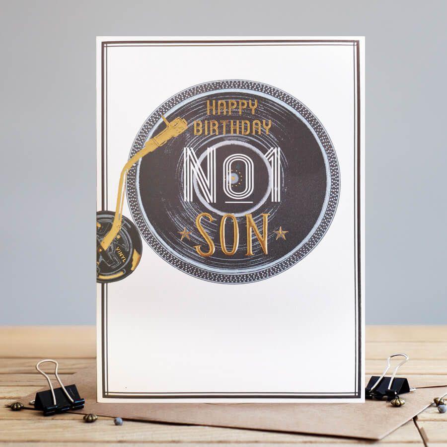 No.1 Son Birthday Card - HAPPY BIRTHDAY Son CARDS - Son BIRTHDAY Cards - RE