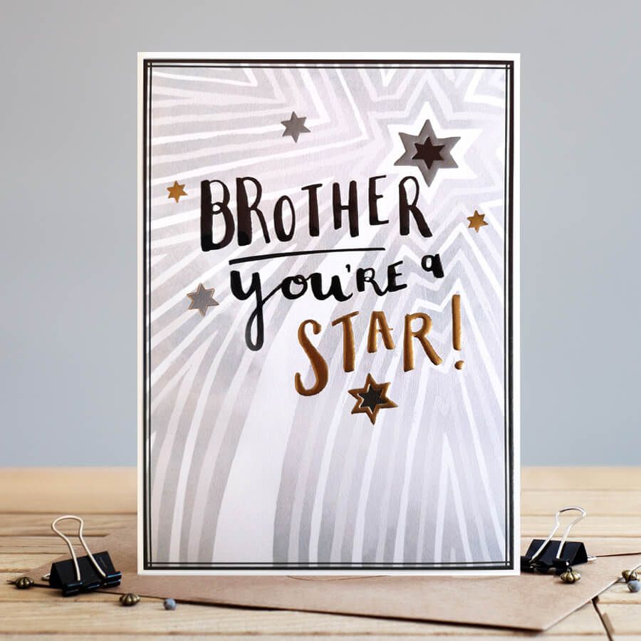 Brother You're A Star - BIRTHDAY Card BROTHER - Brother BIRTHDAY Cards - BE