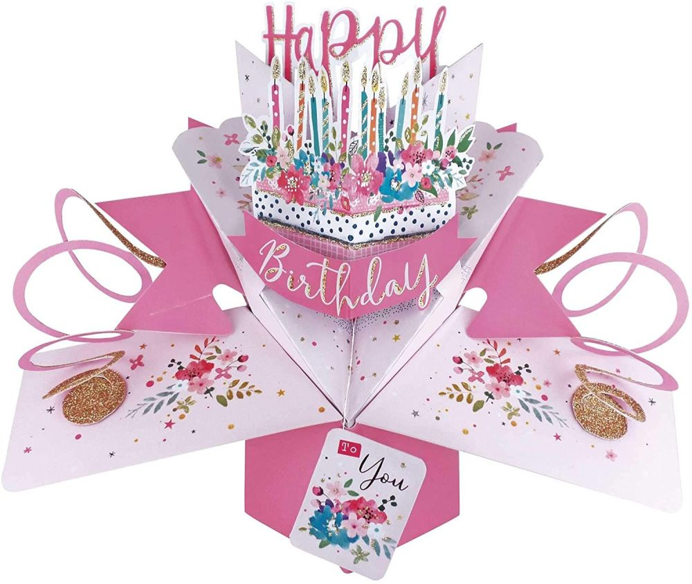 Birthday Cards - POP UP Birthday Cards - 3D POP UP Birthday CARDS - Floral