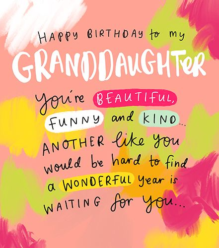 Beautiful Granddaughter Birthday Cards - You're BEAUTIFUL Funny & KIND - Co