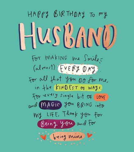 Happy Birthday To My Husband Birthday Card - LOVE & Magic YOU Bring INTO My
