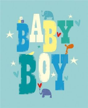 Baby Boy Card - BABY BOY - New BABY Cards - BABY Boy CONGRATULATIONS Card - NEW Arrival - BABY Cards - Cute Baby ELEPHANT New BABY Boy CARD