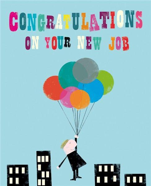 Fun New Job Cards - CONGRATULATIONS On Your NEW JOB - New JOB Cards - JOB P