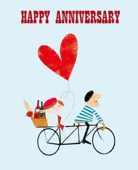Anniversary Cards - HAPPY ANNIVERSARY - WEDDING Anniversary CARDS - Fun ANNIVERSARY Card - ANNIVERSARY Cards For FRIENDS - Brother - Sister IN Law