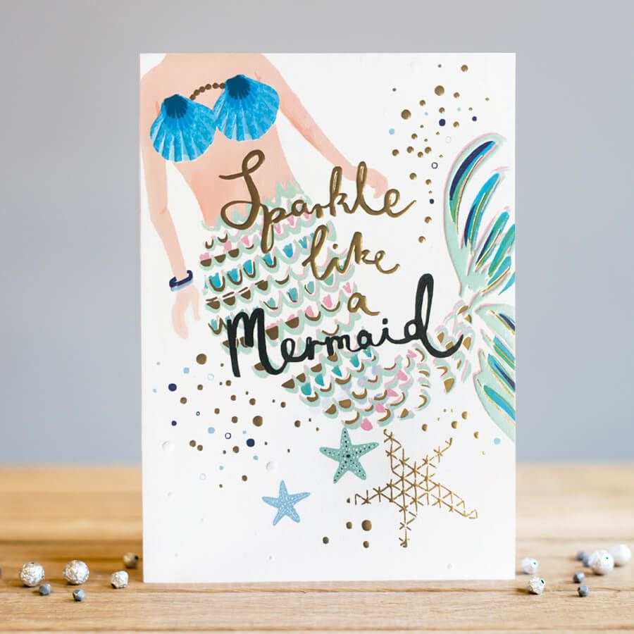 Sparkle like a Mermaid Birthday Card - BIRTHDAY Cards For HER - Mermaid BIR