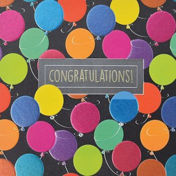 Congratulations Cards - CONGRATULATIONS Cards FOR Success - Embellished CARD - CONGRATULATIONS Balloons - CONGRATULATIONS Card NEW Job - BABY