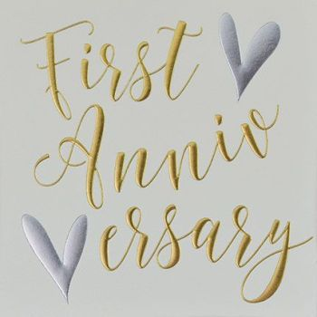1st Anniversary Cards - FIRST ANNIVERSARY - Anniversary CARDS - Wedding ANNIVERSARY Cards - 1st ANNIVERSARY Card For SPECIAL Couple - FRIENDS