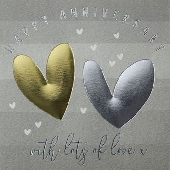 Anniversary Cards - WITH Lots of LOVE - HAPPY ANNIVERSARY Cards - WEDDING Anniversary CARDS - Cute WEDDING Anniversary CARD For FRIENDS - Parents