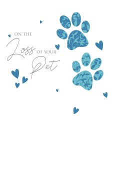 Loss Of Pet Cards - ON The LOSS Of Your PET - Sympathy CARD - Pet MEMORIAL - Pet CONDOLENCE Sympathy CARD - Dog SYMPATHY Card