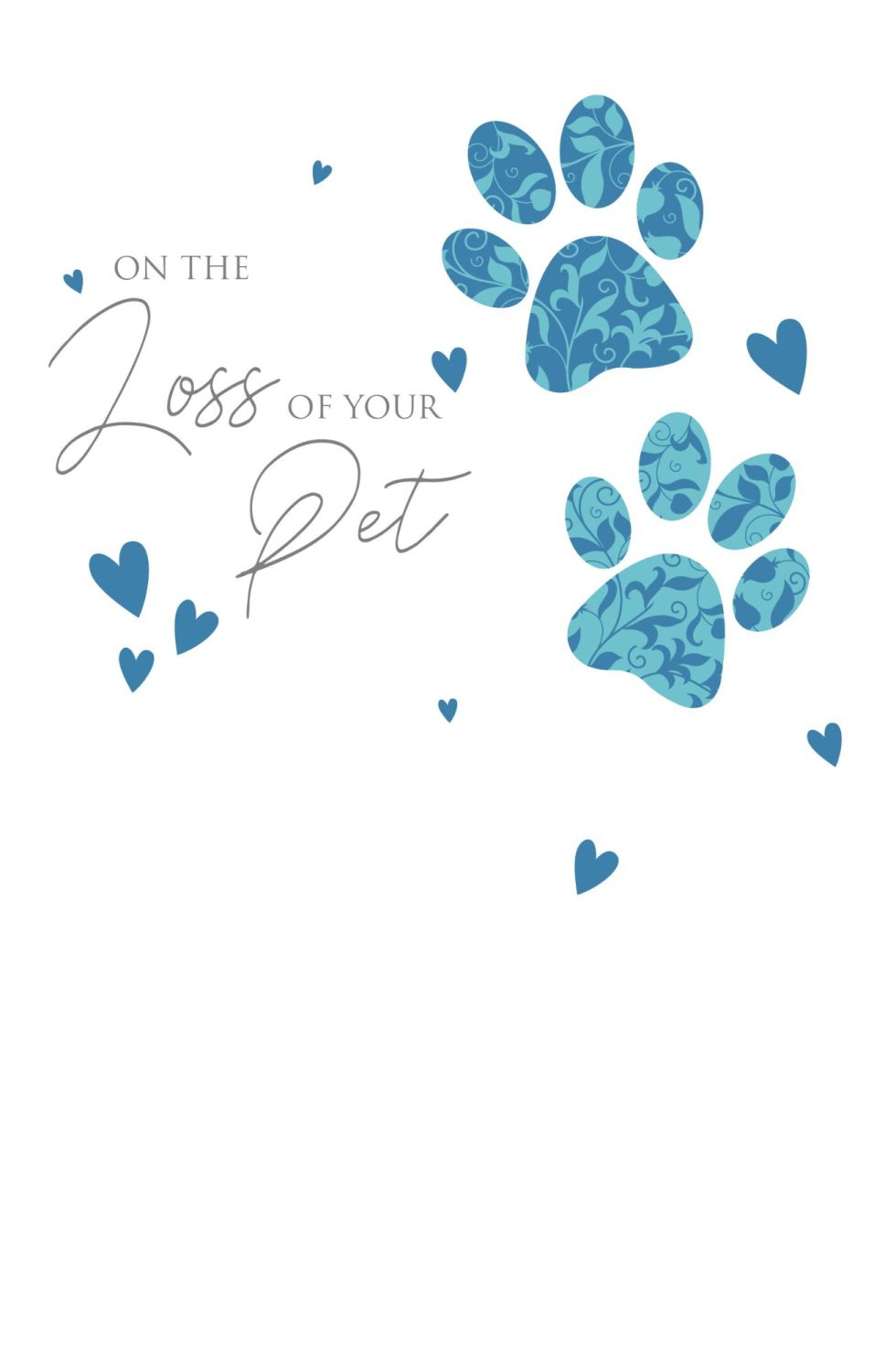 Loss Of Pet Cards - ON The LOSS Of Your PET - Sympathy CARD - Pet MEMORIAL