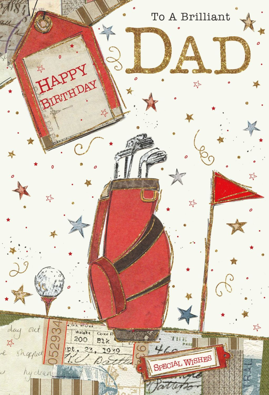 Brilliant Dad Birthday Cards - HAPPY BIRTHDAY - Dad BIRTHDAY Cards - GOLFIN