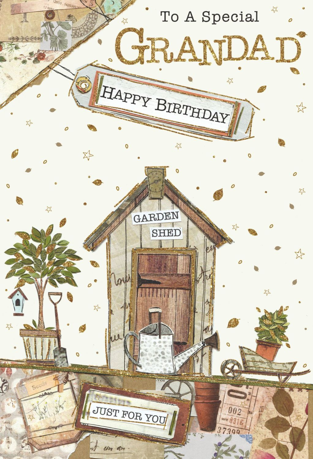 To A Special Grandad Birthday Card - JUST FOR YOU - Gardening BIRTHDAY Card
