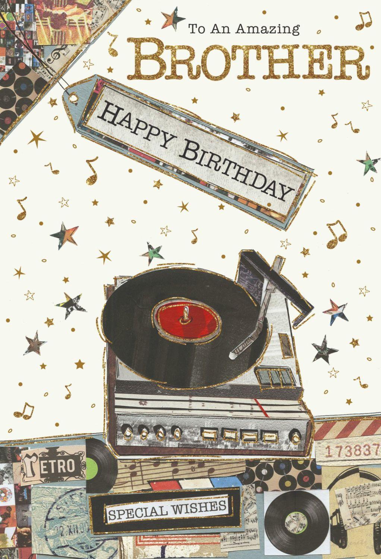 Amazing Brother Birthday Cards - HAPPY BIRTHDAY - Birthday CARDS For BROTHE