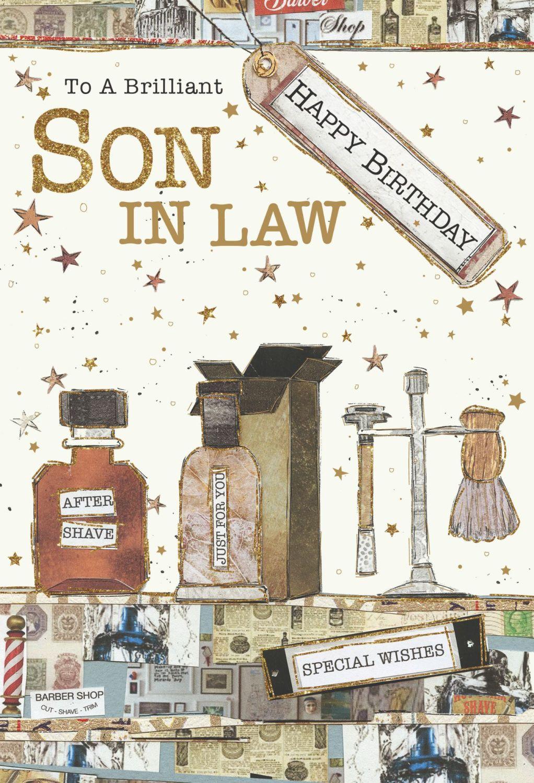 Brilliant Son In Law Birthday Cards - HAPPY BIRTHDAY - Son In LAW Birthday