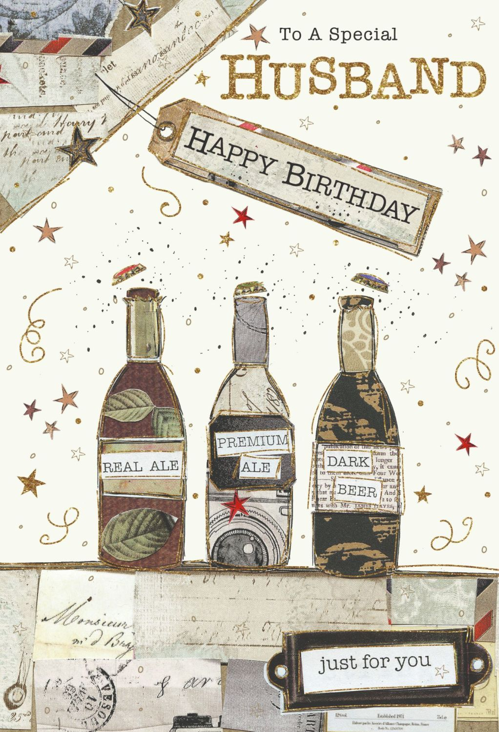 To A Very Special Husband - HUSBAND Birthday CARDS - Just FOR You CARDS - B