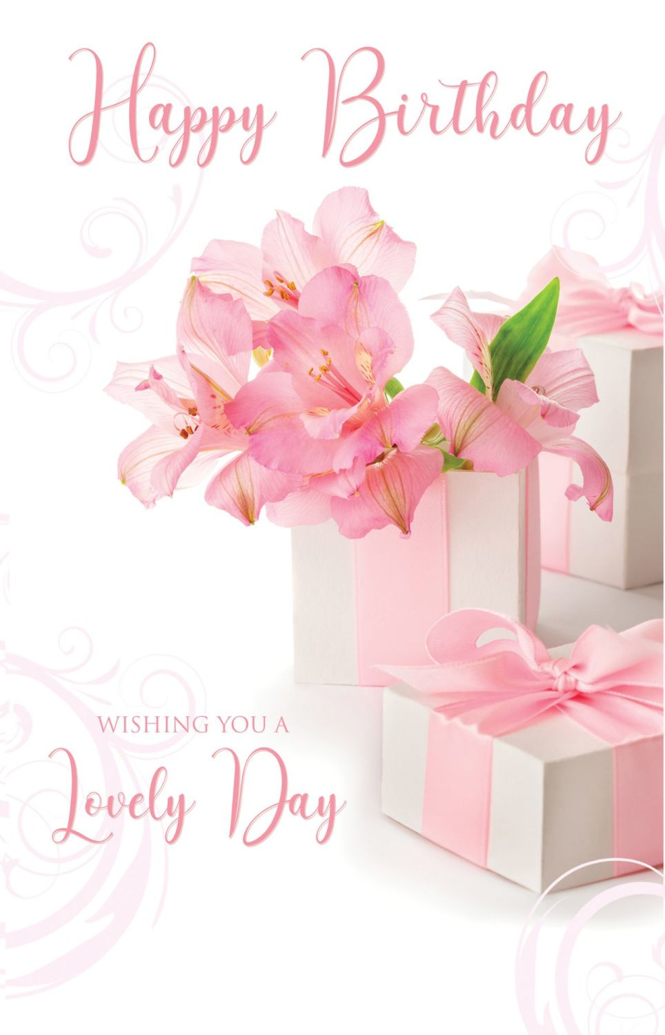 Birthday Cards For Her - WISHING You A LOVELY Day - LILY Birthday CARD - PR