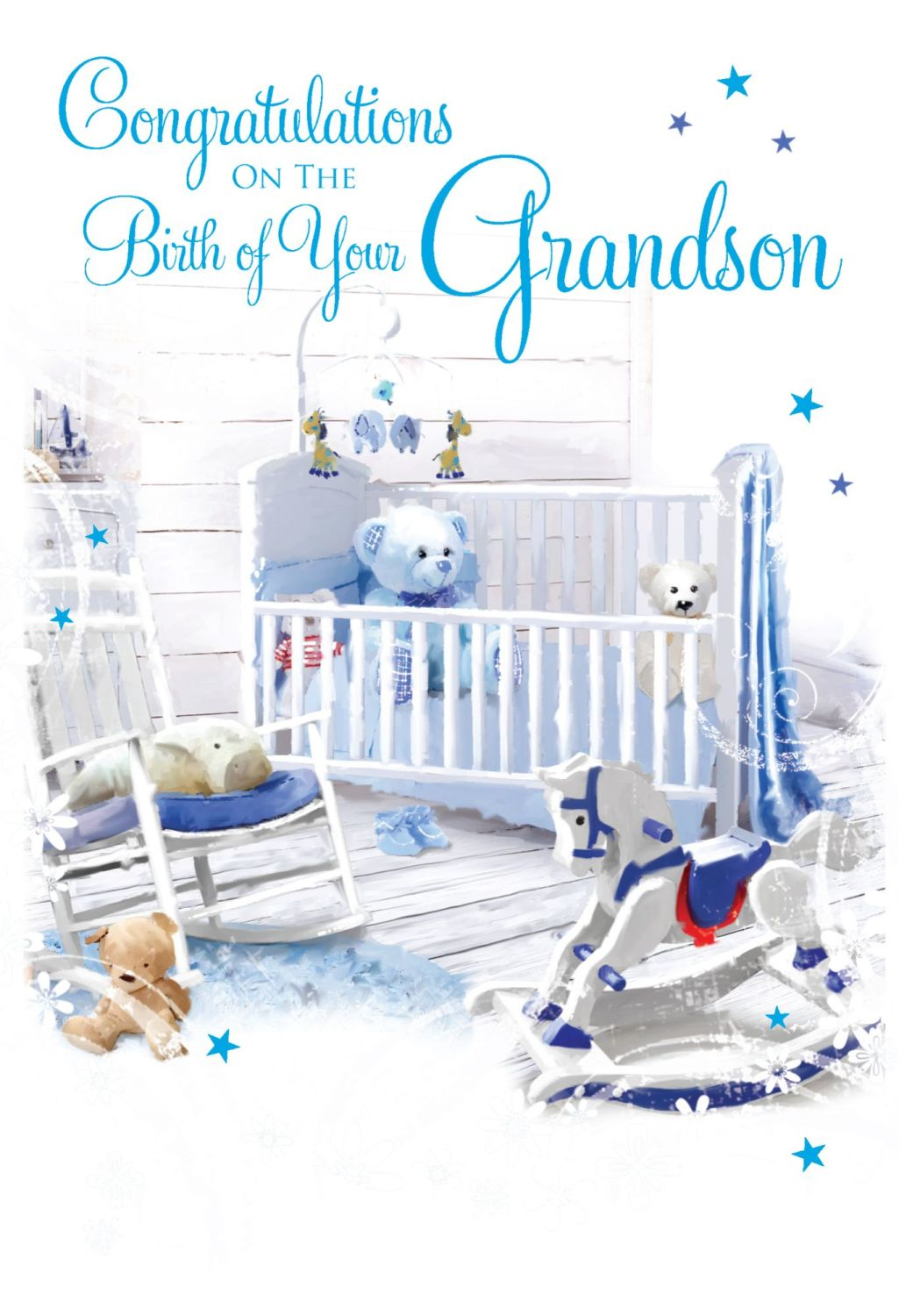 Cute Grandson Card - CONGRATULATIONS - Congratulations ON The BIRTH Of Your