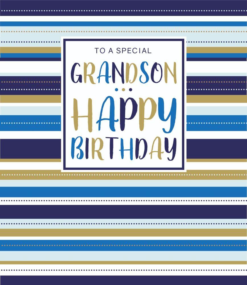 Special Grandson Birthday Cards - To A SPECIAL Grandson HAPPY Birthday - Gr