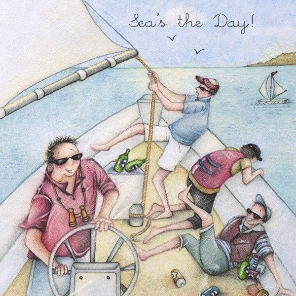 Funny Sailing Birthday Cards - SEA'S The DAY - Sailing & BOATING Birthday C