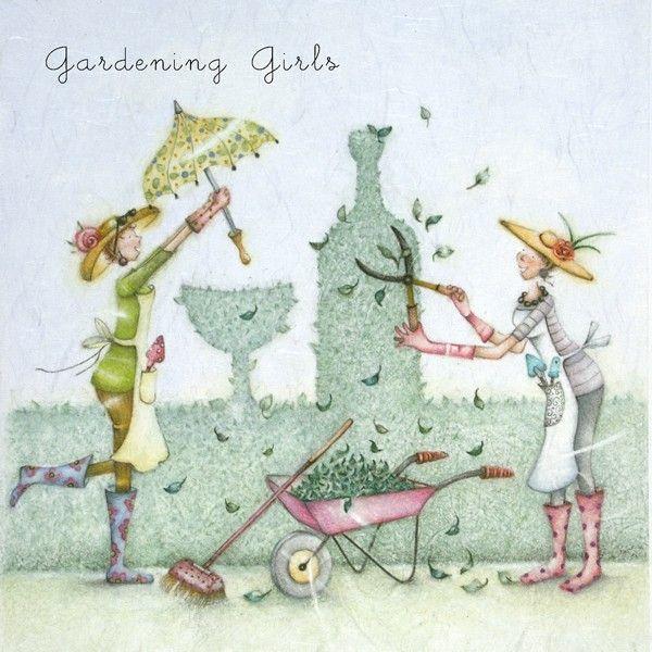 Funny Gardening Birthday Cards - GARDENING Girls - FUNNY Alcohol BIRTHDAY C
