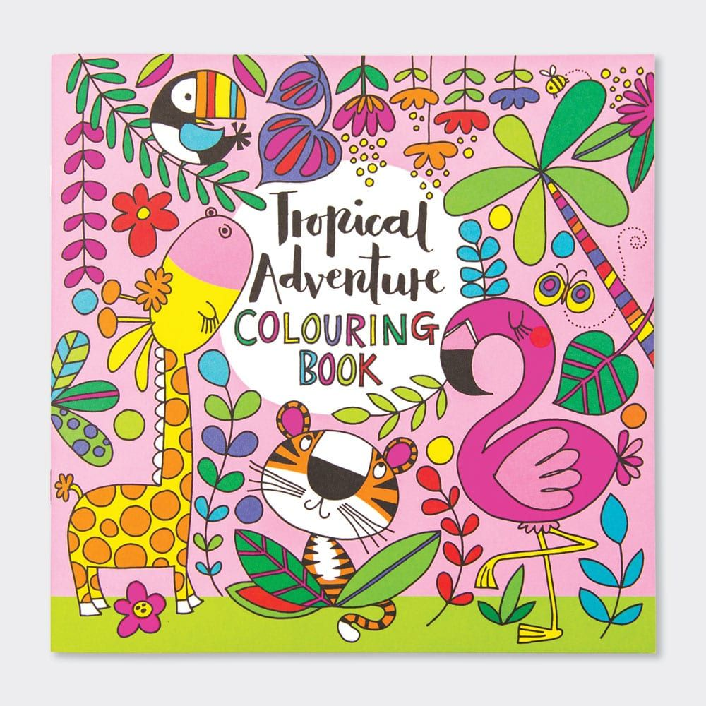 Tropical Adventure Colouring Book - JUNGLE Themed Colouring BOOK - Jungle A