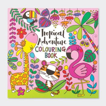 Tropical Adventure Colouring Book - JUNGLE Themed Colouring BOOK - Jungle ANIMALS COLOURING Book For KIDS - Kids COLOURING Books