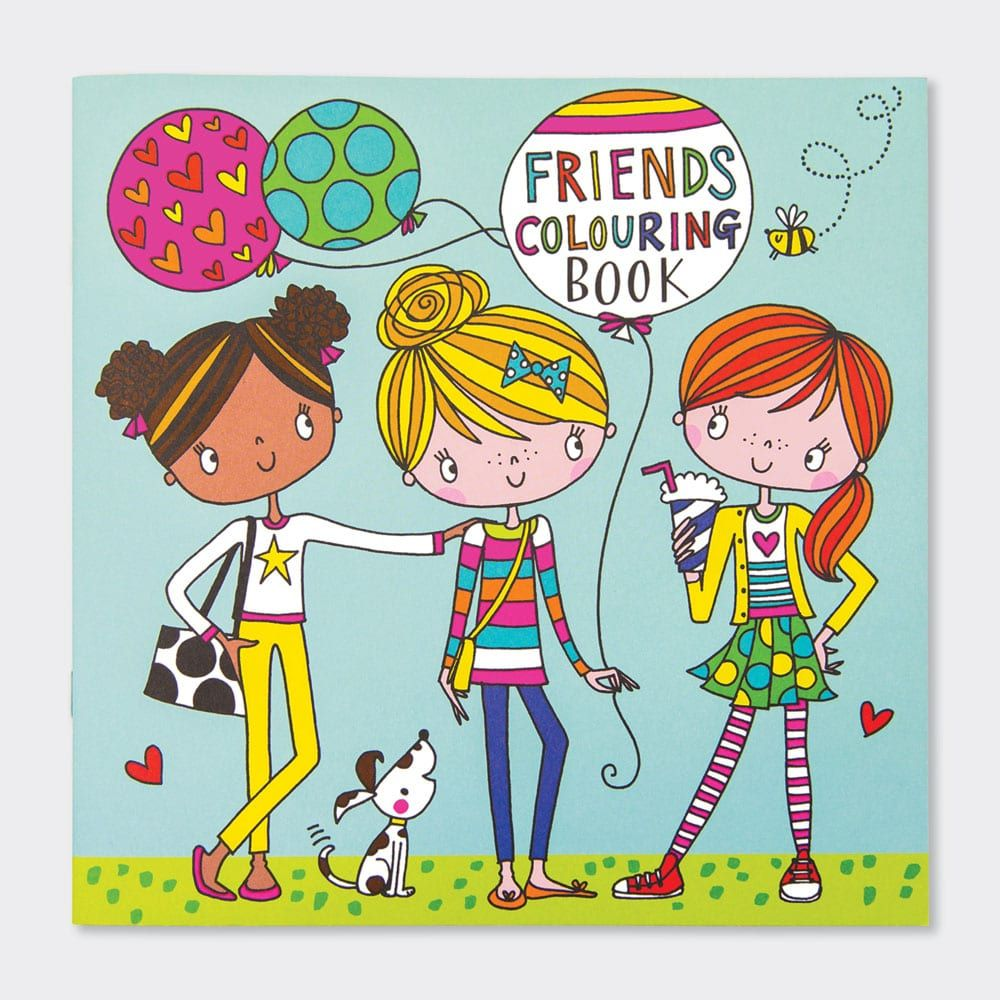 Best Friends Colouring Books - Childrens FRIENDSHIP Colouring BOOK - Kids C