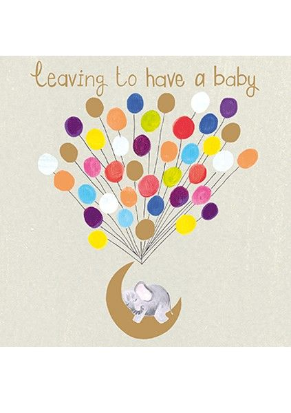 Leaving To Have A Baby Cards - BEAUTIFUL Sparkly Leaving CARD - PREGNANCY &