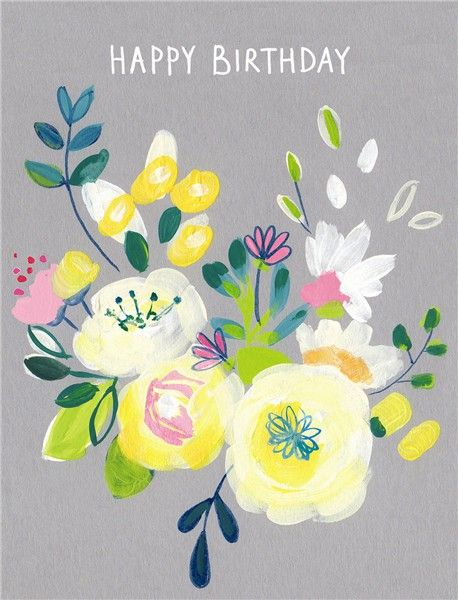 Pretty Birthday Cards For Her - HAPPY BIRTHDAY - Floral BIRTHDAY Cards -  B