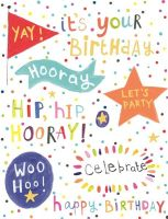 Birthday Cards For Kids - YAY It's YOUR BIRTHDAY - Children's BIRTHDAY Cards - GORGEOUS Kids Birthday CARDS For Daughter - GRANDSON - NIECE - Nephew