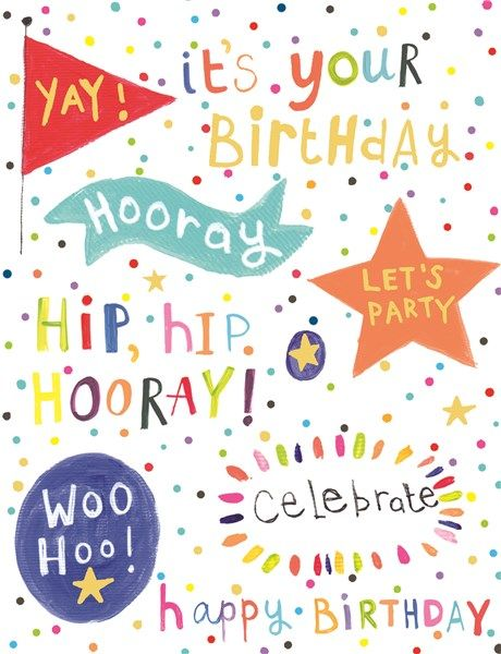 Birthday Cards For Kids - YAY It's YOUR BIRTHDAY - Children's BIRTHDAY Card