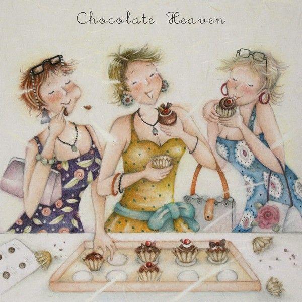 Chocoholic Birthday Cards -CHOCOLATE HEAVEN - Funny LOVE Chocolate BIRTHDAY