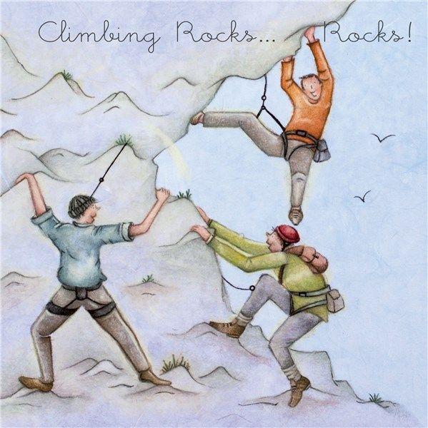 Rock Climbing Card - CLIMBING ROCKS ... ROCKS - Male BIRTHDAY Cards - ROCK