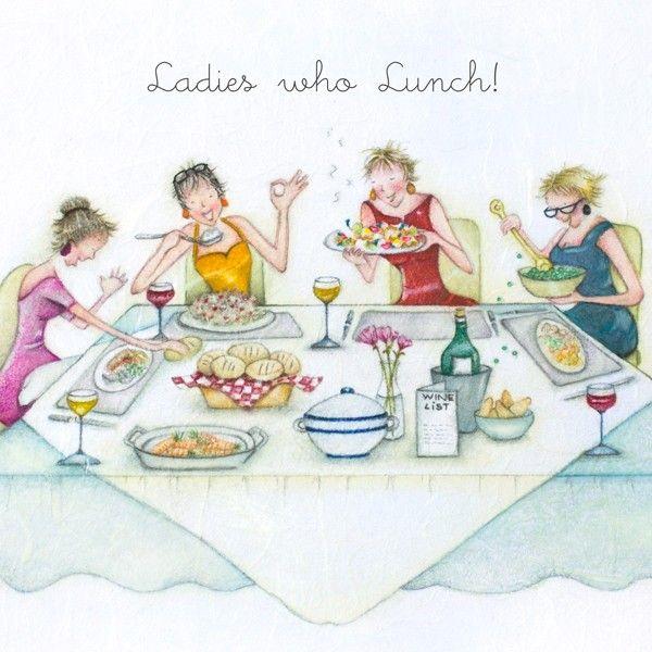 Friendship Birthday Cards - LADIES Who LUNCH - FUNNY Birthday CARD For FRI