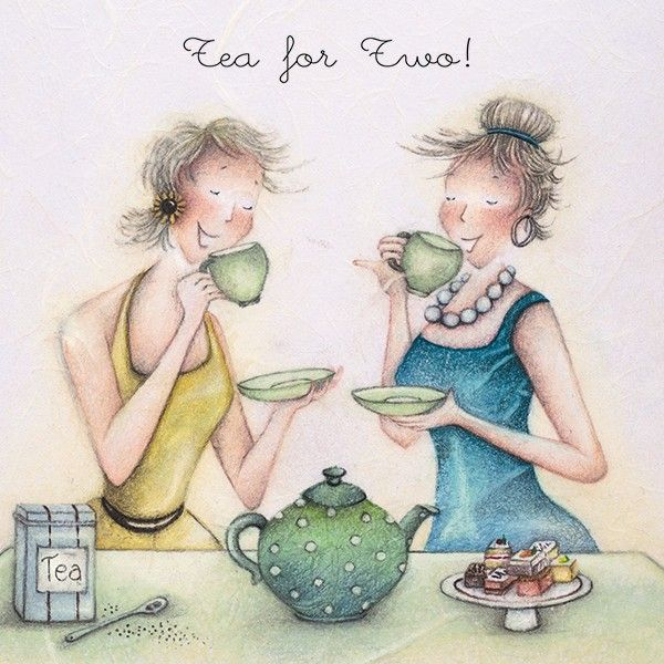 Birthday Cards - SPECIAL Friend - TEA For TWO - Afternoon TEA Birthday CARD