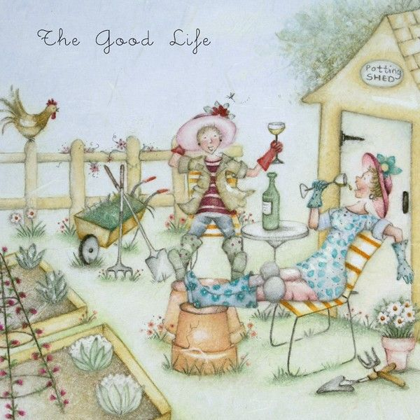 Gardening Birthday Cards - The GOOD LIFE - Gardening BIRTHDAY Card FOR Her