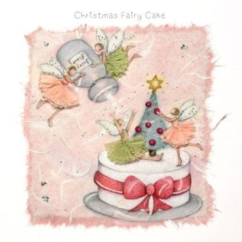 Fairy Christmas Cards - CHRISTMAS Fairy CAKE - Funny CHRISTMAS Cards - CHRISTMAS Cake Christmas CARDS - Fairy CHRISTMAS Card FOR Mum - GRAN - Friend
